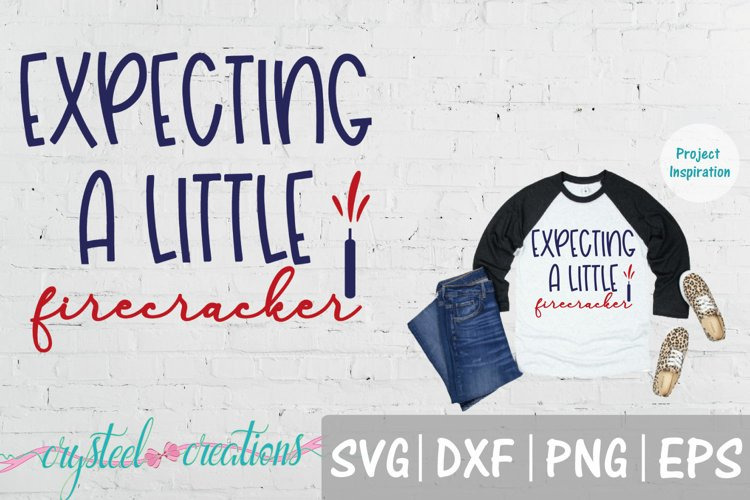 Expecting a Little Firecracker Pregnancy SVG, DXF, PNG, EPS