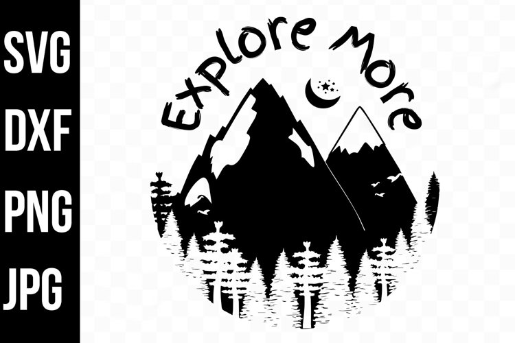 Explore More Mountain Forest Silhouette Design svg, png, dxf