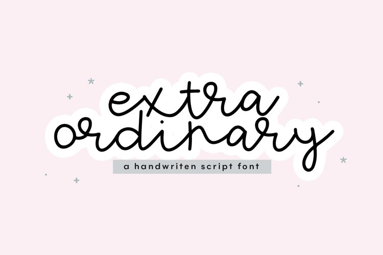 Extraordinary - Handwritten Script Font example image 1