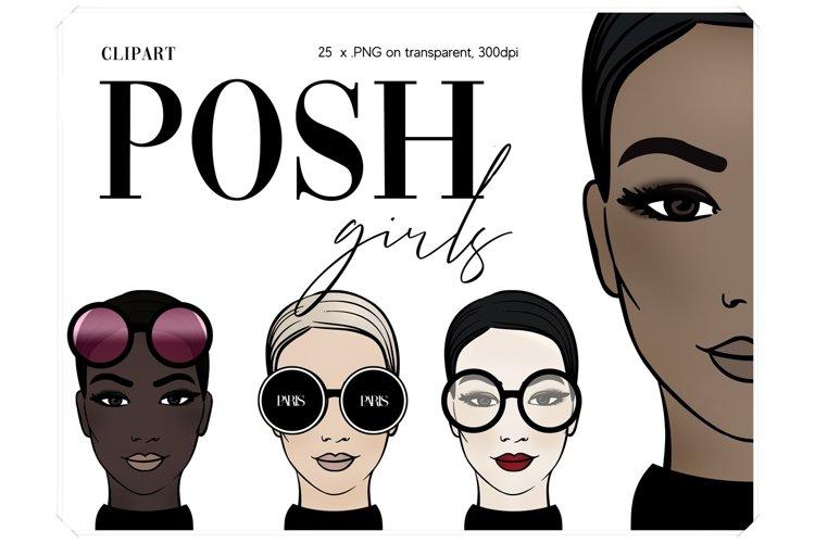 Fashion Girls Illustrations - Fashionable Clip Art