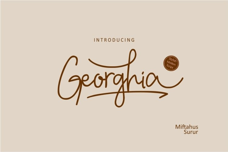 Georghia Modern Script Font example image 1