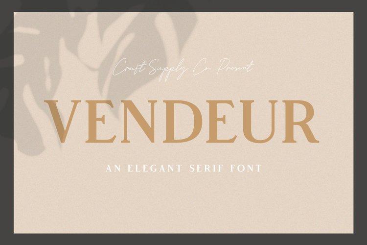 Vendeur - Elegant Serif Font example image 1