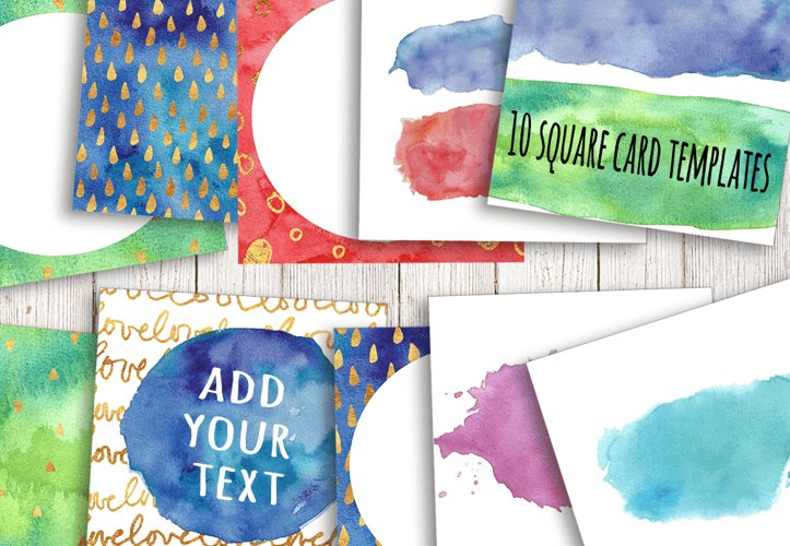 Watercolor Textures - card edition - Free Design of The Week Design3