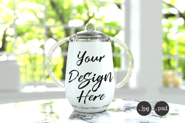 Sippy cup tumbler mockup / travel flask for decals