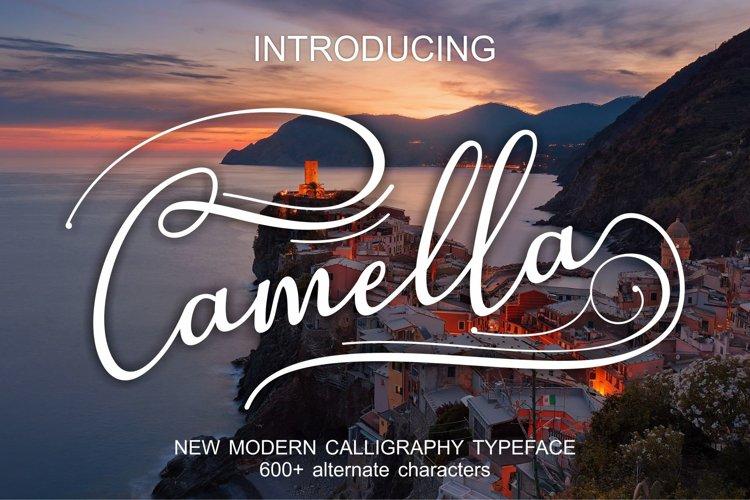Web Font Camella example image 1