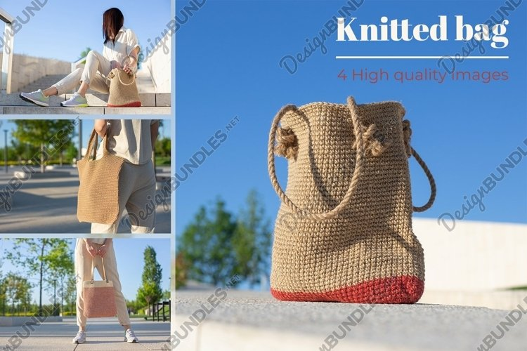 Knitted bag bundle. Eco lifestyle