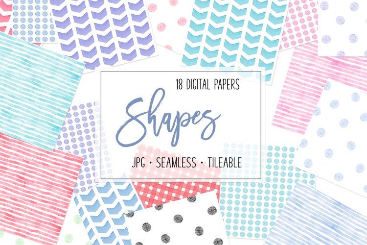 Digital patterns - Stripes dots chevron checks Seamless JPG