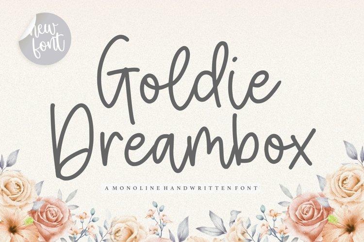 Goldie Dreambox Monoline Handwritten Font example image 1