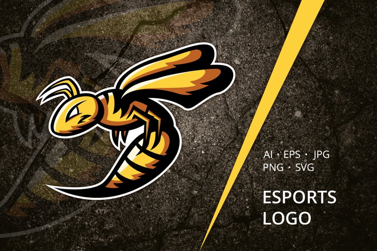 Wasp Esports Logo Template example image 1