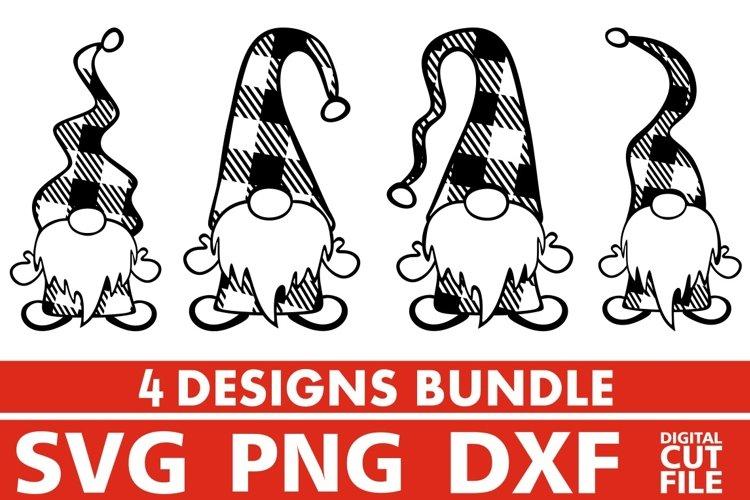 4x Gnome Designs Bundle svg, Plaid svg, Christmas svg, Santa example image 1