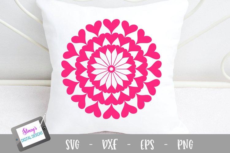 Mandala SVG - Heart mandala svg example