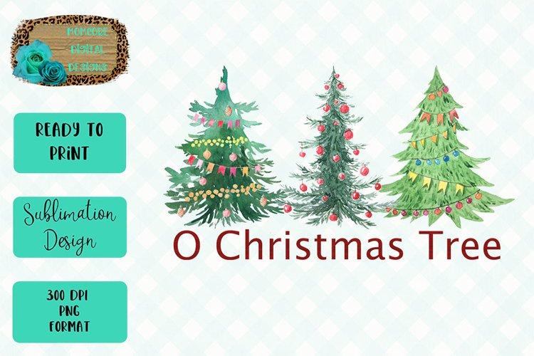 O Christmas Tree Sublimation Design example image 1