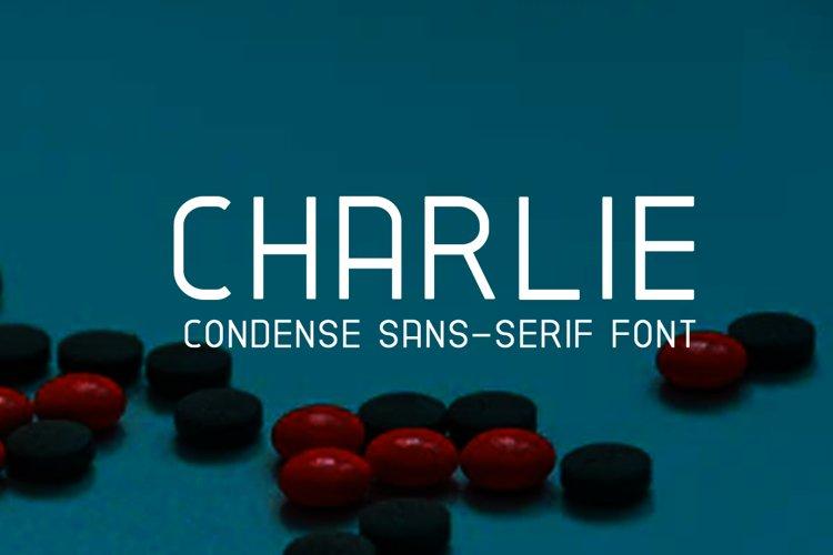 CHARLIE Condense Sans Serif Font example image 1
