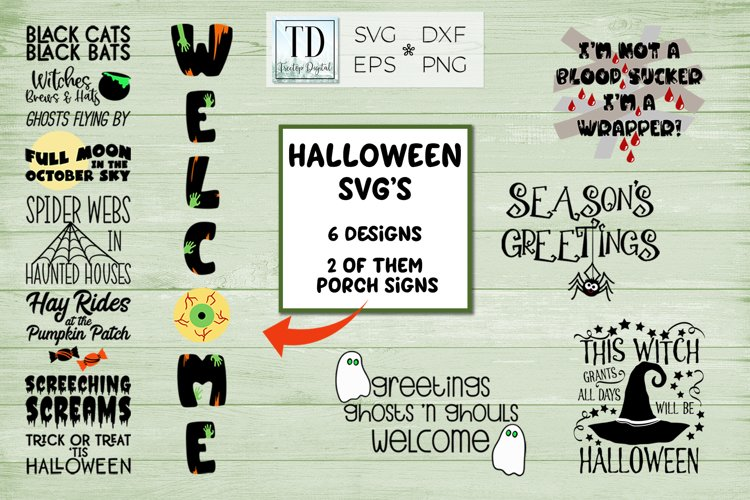 Halloween SVG Bundle, Halloween Porch Sign SVG example image 1
