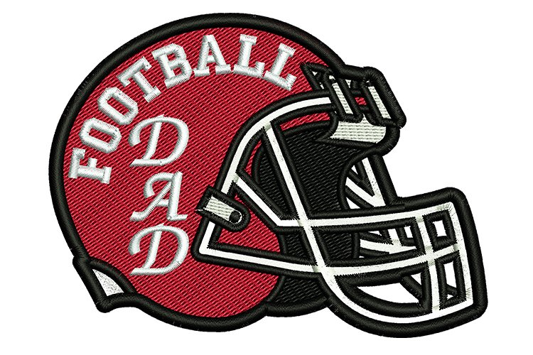 Helmet Football dad machine embroidery designs