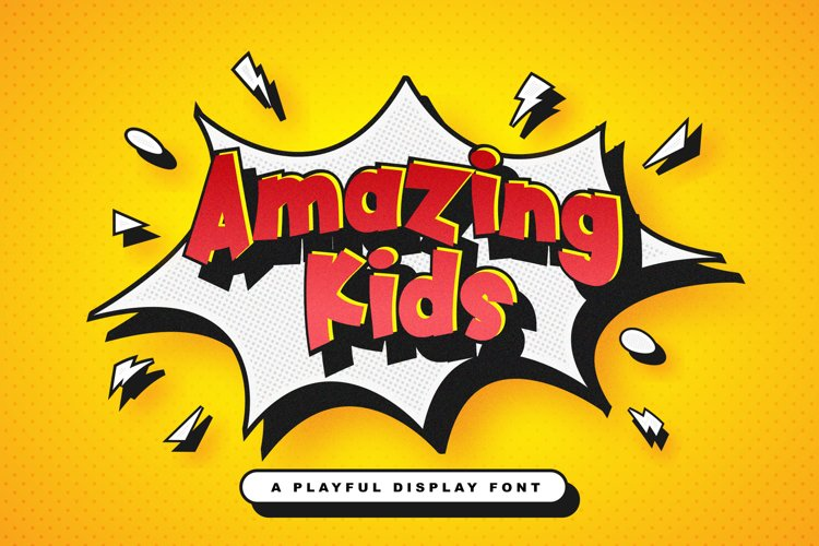 Amazing Kids - Playful Display Font example image 1