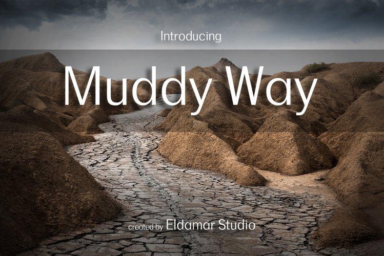 Muddy Way Font example image 1
