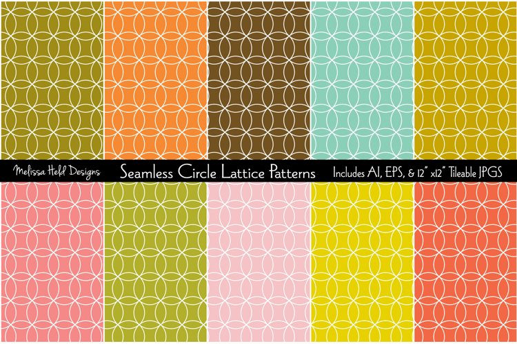 Seamless Circle Lattice Patterns example image 1