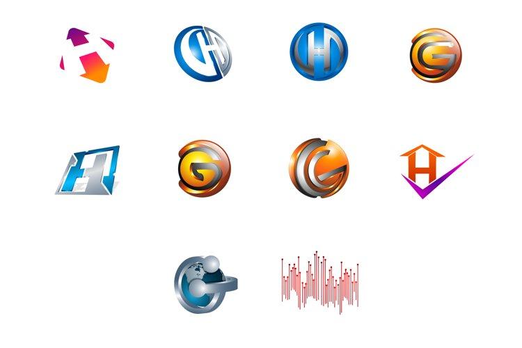 Modern and elegant business logos set