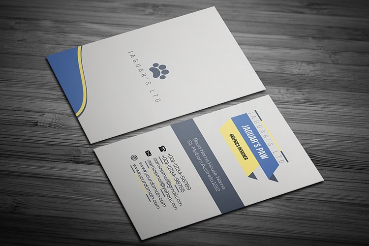 Corporate Creative Business Card Template Design example image 1