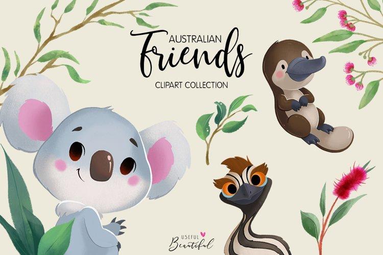 Australian Friends Clipart Collection