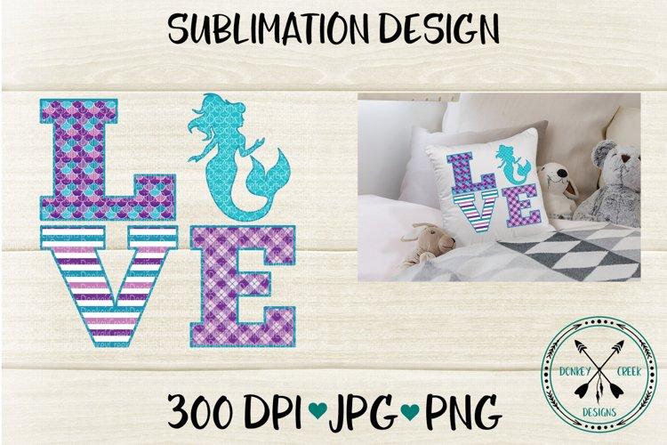Mermaid Love Sublimation Design example image 1
