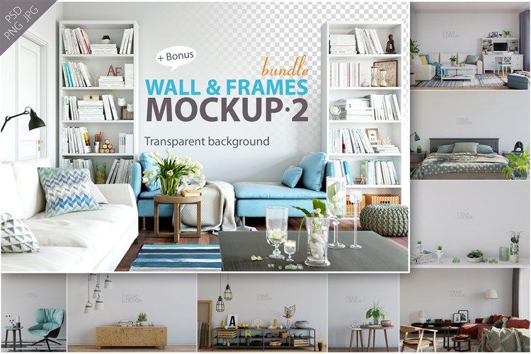 Wall & Frames Mockup - Bundle Vol. 2 example image 1