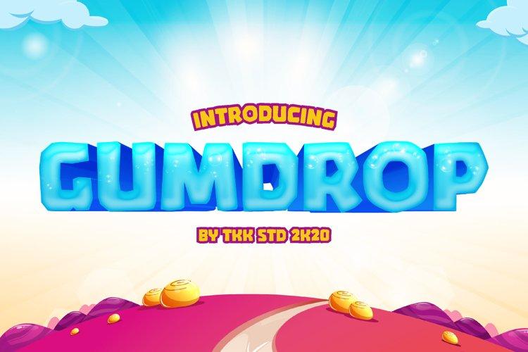 GUMDROP - Block Gaming Font example image 1