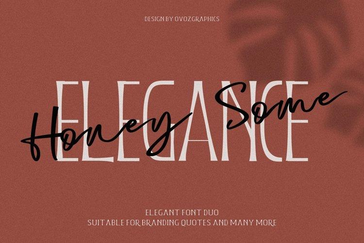 Honeysome Script Font example image 1