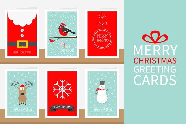 Merry Christmas greeting card set example image 1