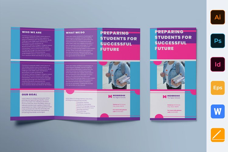 Education Brochure Trifold example image 1