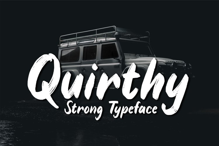 Quirthy - Strong Typeface example image 1
