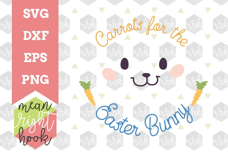 Carrots For The Easter Bunny | Easter Plate Design - SVG, EPS, DXF, PNG vector files for cutting machines like the Cricut Explore & Silhouette example image 1