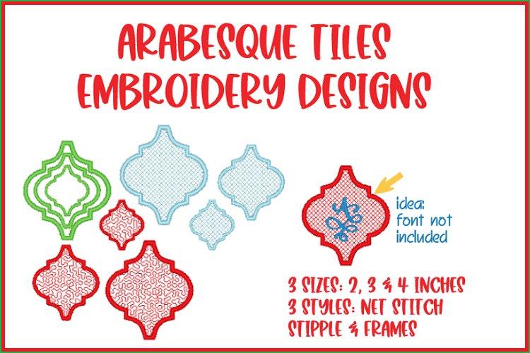 ARABESQUE TILES EMBROIDERY DESIGNS
