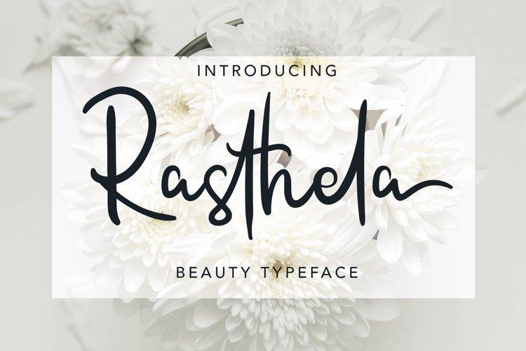 Web Font Rasthela example image 1