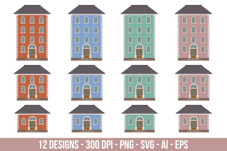 Building house building clipart set. example image 1