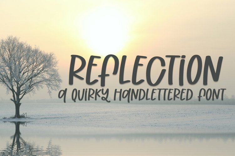 Reflection - A Quirky Handlettered Font example image 1