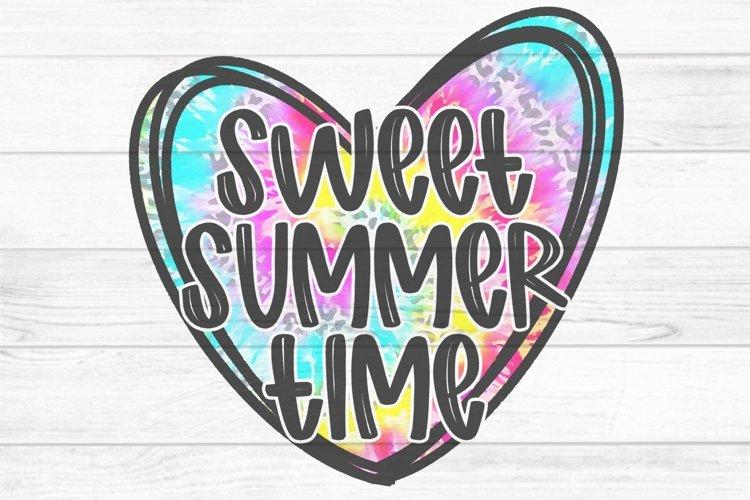 Summer Time Tie Dye Heart