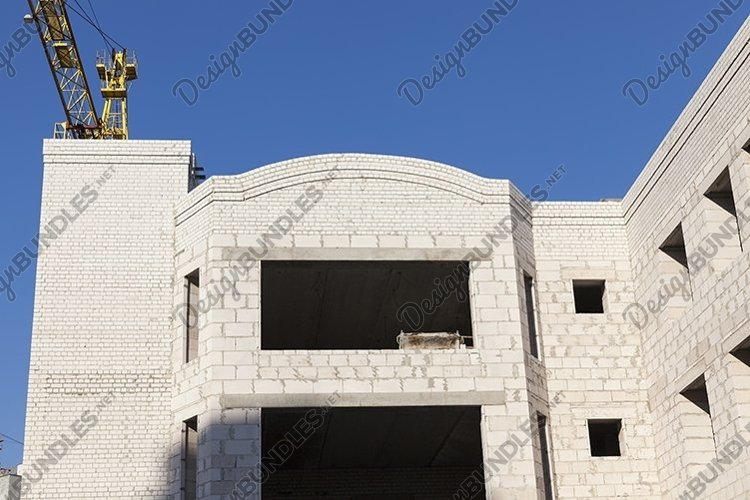 construction of apartment houses in the developing area example image 1