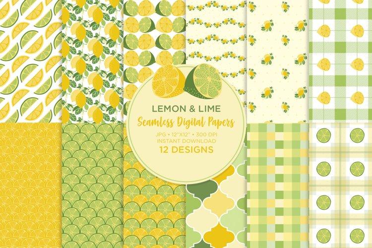 lemon and Lime Digital Papers