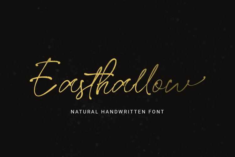 Easthallow Handwritten Font example image 1