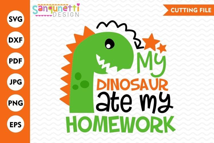 My Dinosaur Ate My Homework Svg School Dxf Eps Png 105045 Cut Files Design Bundles