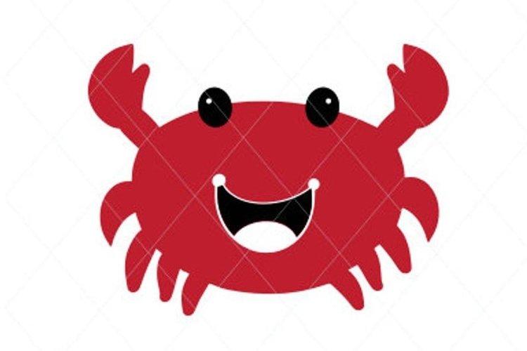 Baby crab svg, crab cut file, crab clip art, crab vector example image 1
