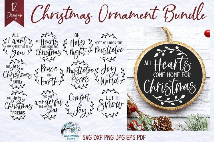 Christmas Ornament SVG Bundle | Round Christmas Designs
