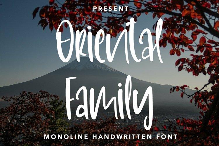 Web Font OrientalFamily - Monoline Handwritten Font example image 1