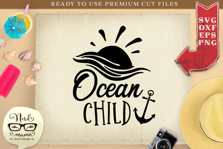 Ocean Child SVG Cut File example image 1