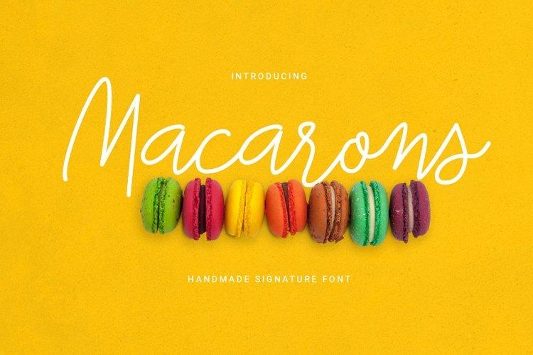 Macarons - Font and Extras / Cursive Font / Script Font / example image 1