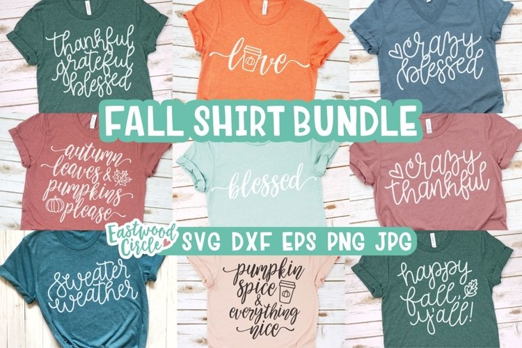 Fall SVG Bundle - Cut Files for Shirts example image 1