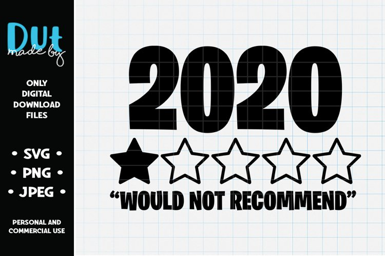 2020 Would Not Recommend SVG example image 1