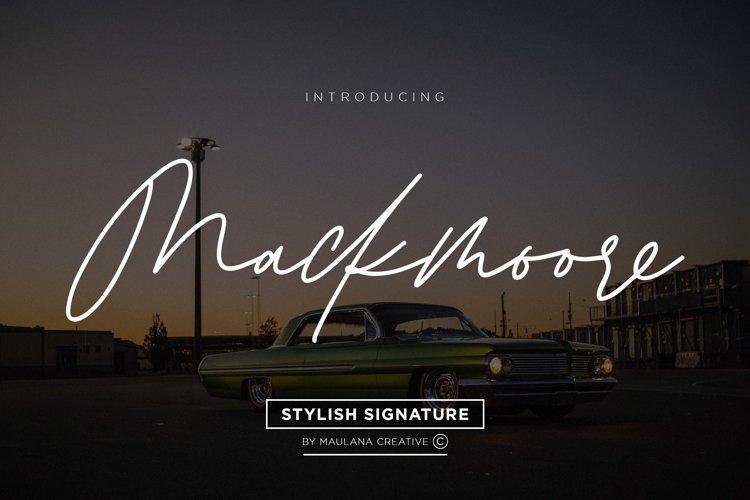 Mackmoore Signature Font example image 1